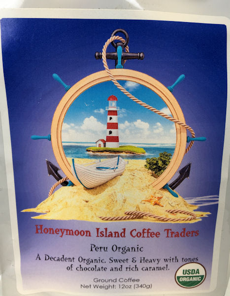 HoneyMoon Island Peru Organic Coffee
